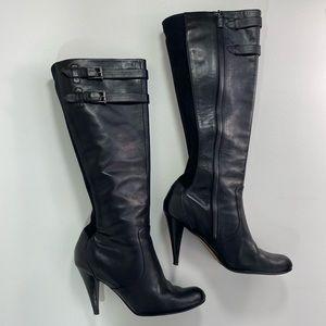 Cole Haan Nike Air Tall Knee High Black Boots 10.5